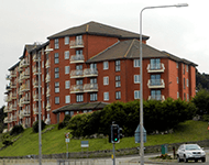 Apartment buildings in Conwy County